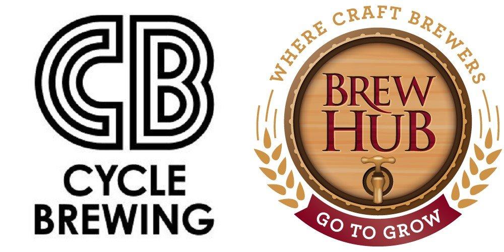 cycle brewing and brew hub logos